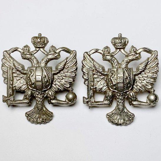 1st Kings Dragoon Guards 1st Kings Dragoon Guards Regiment KDG (King's) Collar Badge PAIR