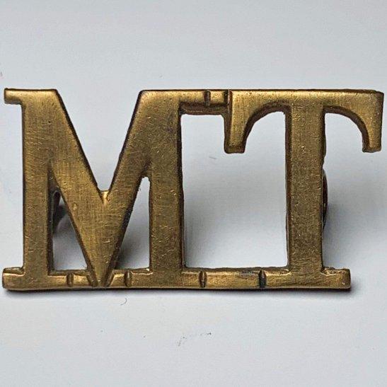 Motor Transport Motor Transport Corps Company MT Shoulder Title