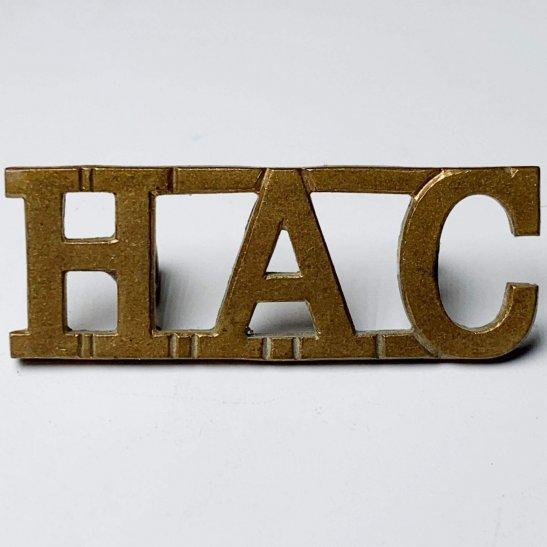 Honourable Artillery Company HAC Honourable Artillery Company HAC Shoulder Title