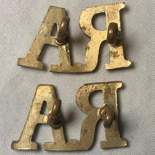 additional image for Royal Artillery Regiment RA Shoulder Title PAIR