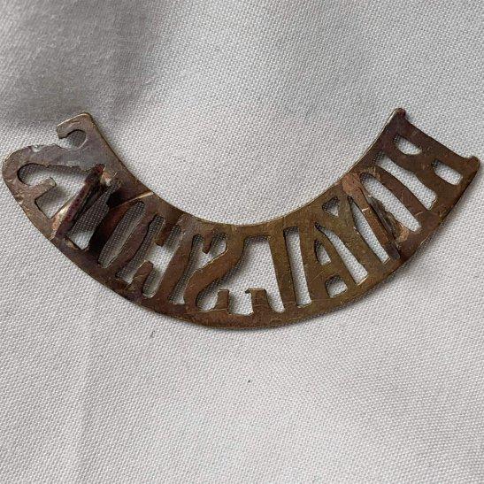 additional image for WW1 Royal Scots (Scottish) Regiment Shoulder Title - FIRST PATTERN
