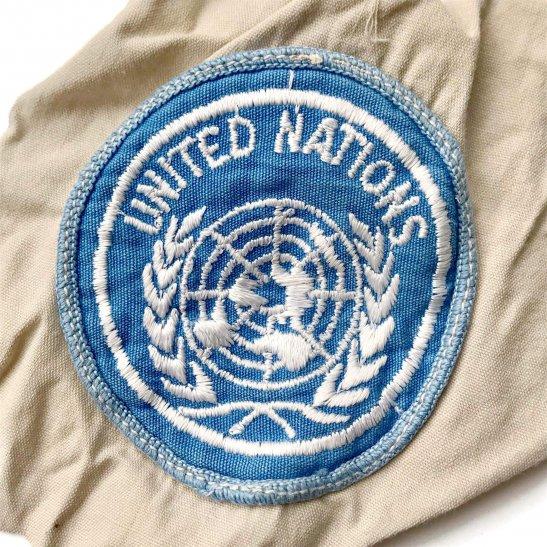 United Nations UN Blue Beret Cloth Cap Badge / Uniform Formation Patch