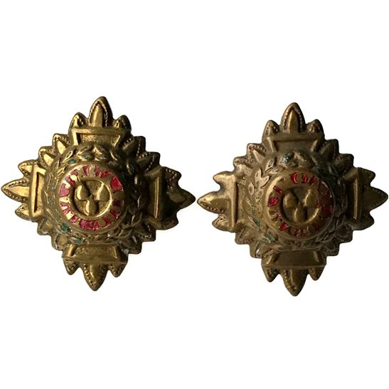 British Army Officers Insignia Pips - Rank of 2nd Lieutenant Set PAIR - 26mm Diagonally