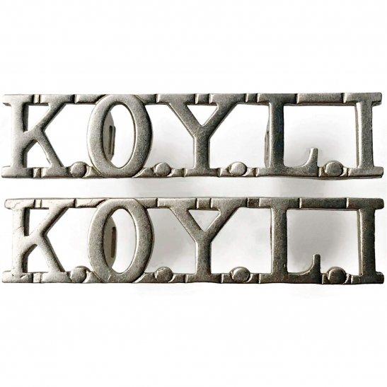 Kings Own Yorkshire Light Infantry KOYLI Kings Own Yorkshire Light Infantry (KOYLI) King's Shoulder Title PAIR
