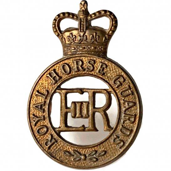 Royal Horse Artillery RHA Royal Horse Guards Regiment RHG Cap Badge - Queens Crown