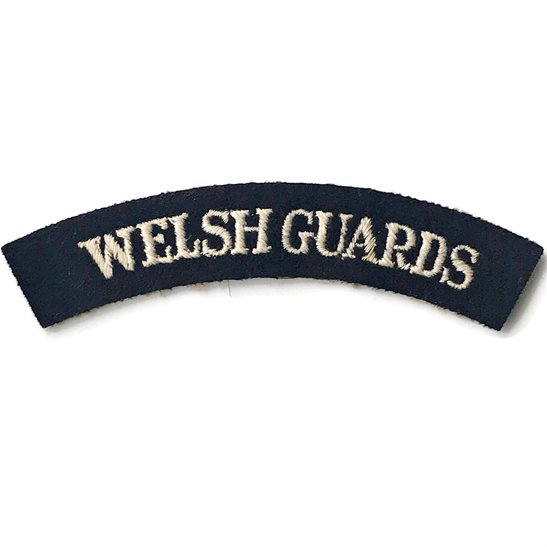 Welsh Guards WW2 Welsh Guardss Regiments Cloth Shoulder Title Badge Flash