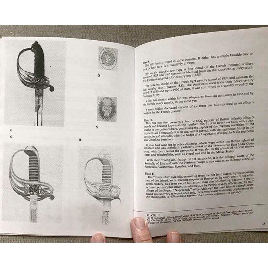 additional image for Brtish & Foreign Regulation Military Swords Plate Guide Booklet / Book