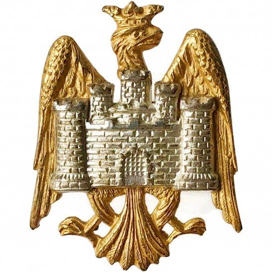 Bedfordshire Yeomanry Bedfordshire Yeomanry Regiment GILT Officers Collar Badge