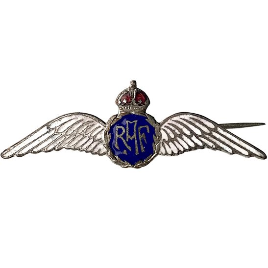 Royal Air Force RAF WW2 Royal Air Force RAF Wings ENAMEL Sweetheart Brooch - 54mm