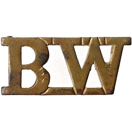Black Watch WW2 Black Watch (Royal Highland) Regiment BW Shoulder Title - 2ND PATTERN