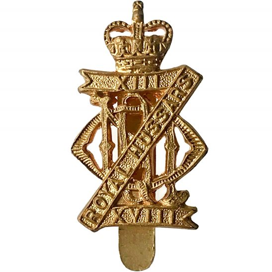 13th/18th Hussars 13th / 18th Royal Hussars Regiment Cap Badge - Queens Crown