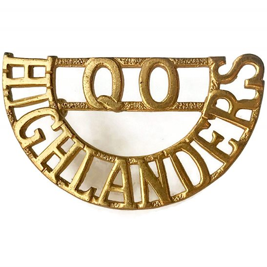 Queens Own Highlanders (Seaforth and Camerons) Queen's Regiment Shoulder Title
