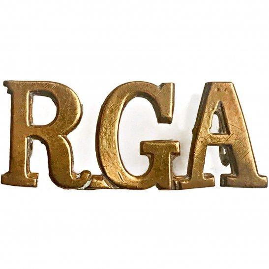 Royal Garrison Artillery RGA Royal Garrison Artillery RGA Shoulder Title
