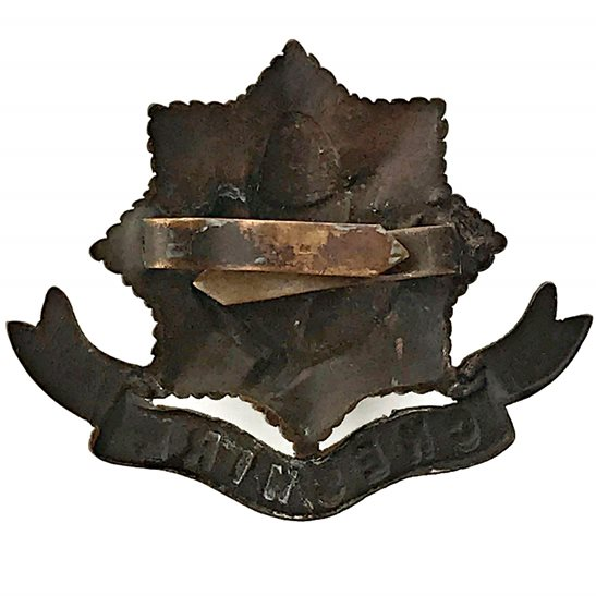 additional image for WW1 Cheshire Regiment BRONZE Officers Cap Badge