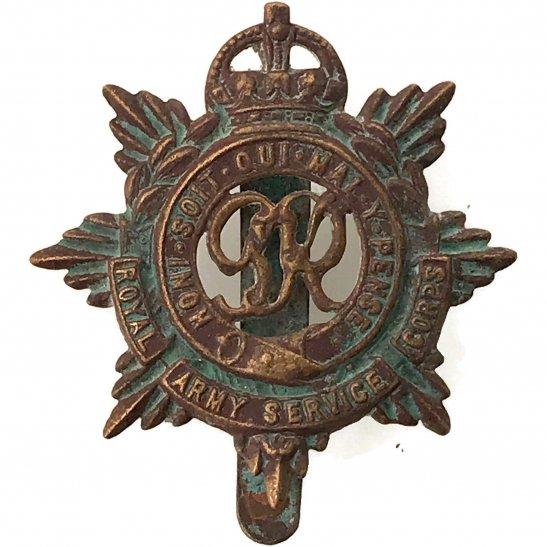 Royal Army Service Corps RASC UK Dug Detecting Find - Royal Army Service Corps RASC Relic Cap Badge