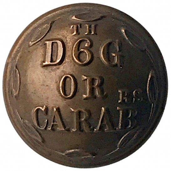 6th Dragoon Guards VICTORIAN 6th Dragoon Guards Carabiniers Regiment Tunic Button - 25mm
