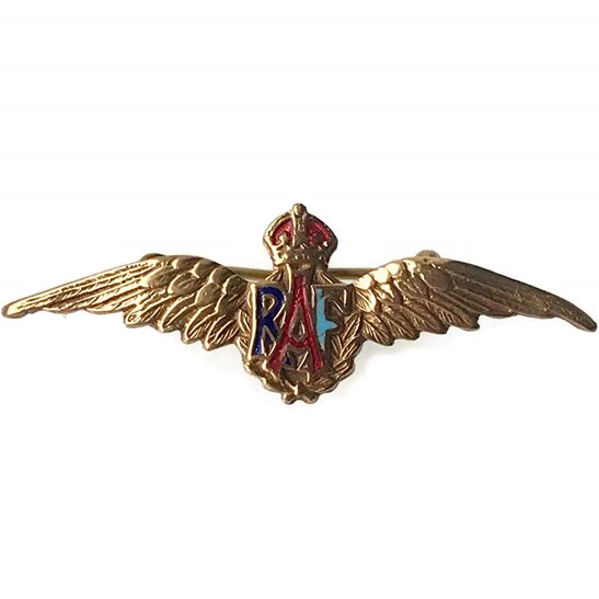 Royal Air Force RAF WW2 Royal Air Force RAF Wings Sweetheart Brooch - 51mm