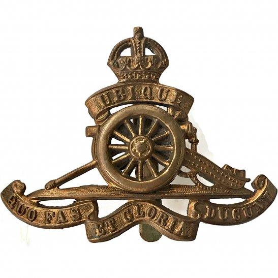 Royal Artillery WW1 Royal Artillery Regiment MOVING / ROTATING WHEEL VERSION Cap Badge