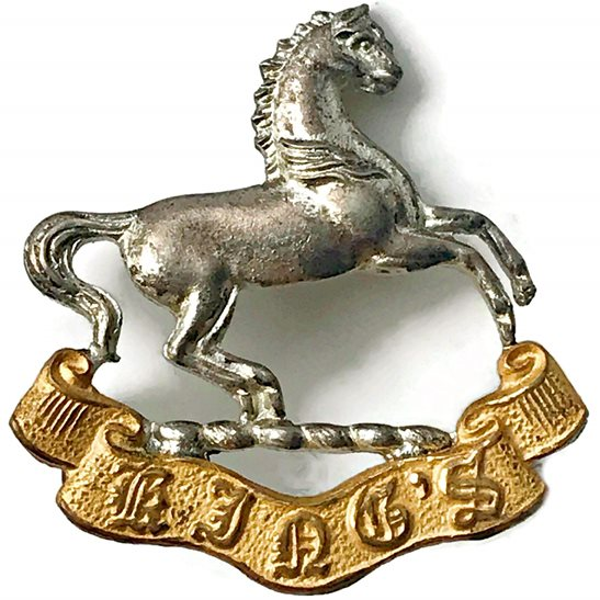 Kings Liverpool WW2 Kings Liverpool Regiment (King's) OFFICERS Gilt Collar Badge