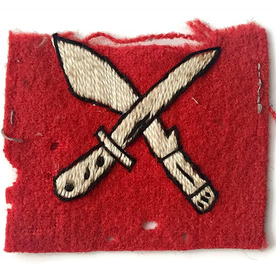 WW2 18th Infantry Brigade Division British Cloth Formation Sign Patch Badge