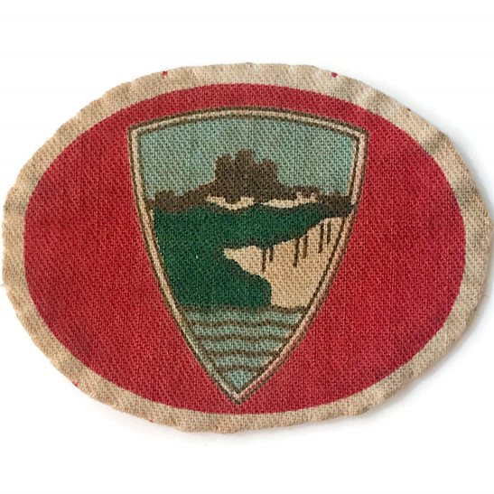 WW2 Home Counties District (Eastern Command) Cloth Formation Sign Patch Badge PAIR