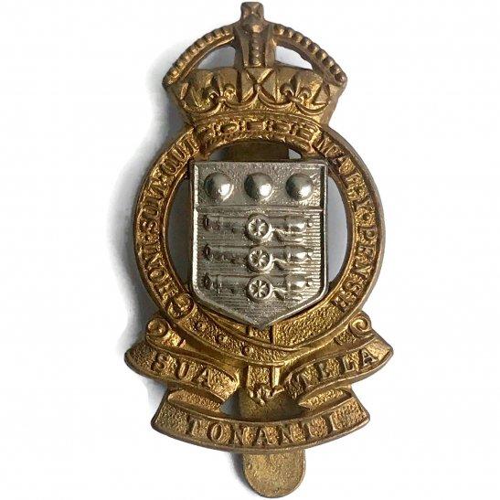 Royal Army Ordnance Corps RAOC WW2 Royal Army Ordnance Corps RAOC Cap Badge - BUTTONS LTD BIRMINGHAM