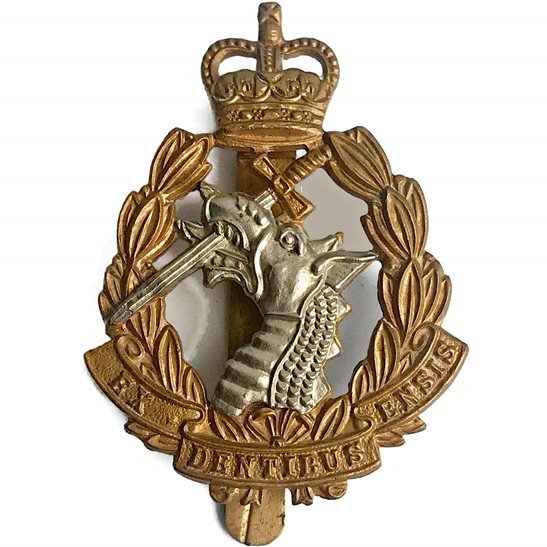 Army Dental Corps Royal Army Dental Corps RADC Dentist Cap Badge J.R.GAUNT LONDON - Queens Crown