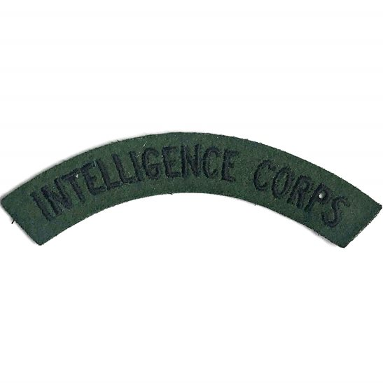 Intelligence Corps WW2 Intelligence Corps Cloth Shoulder Title Badge Flash
