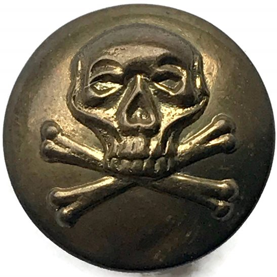 17th / 21st Lancers 17th Lancers Regiment DEATHS HEAD Small Tunic Button - 19mm