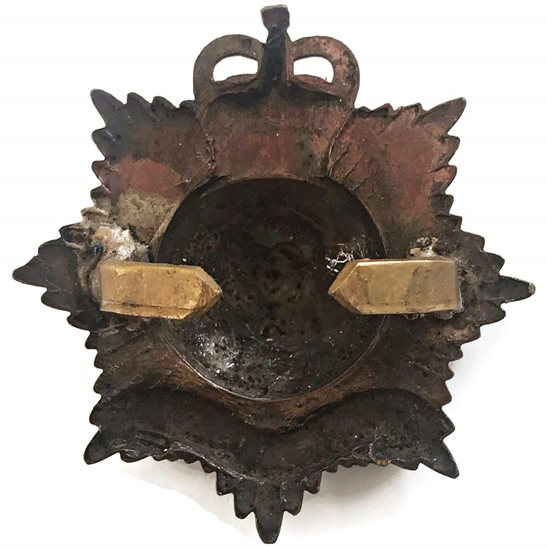 additional image for Royal Hampshire Regiment OFFICERS Bronze Cap Badge - Queens Crown