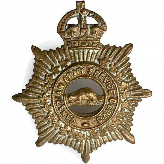 WW2 Canadian Army Royal Canadian Army Service Corps RCASC Canada Collar Badge