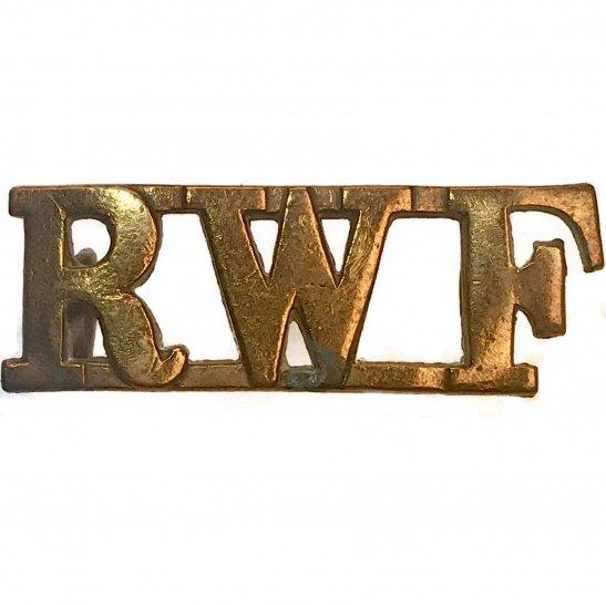 Royal Welsh Fusiliers Royal Welsh Fusiliers Regiment (Welch) RWF Shoulder Title
