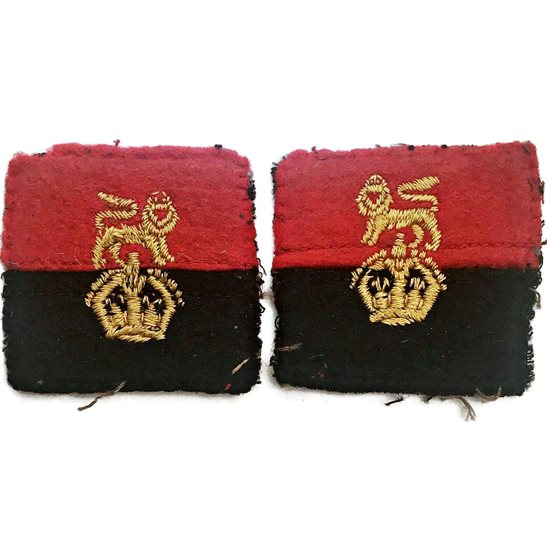 WW2 War Office Controlled Units Cloth Formation Sign Patch Badge PAIR