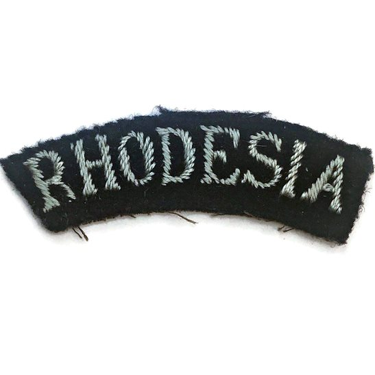 Royal Air Force RAF WW2 Royal Air Force RAF RHODESIA Cloth Shoulder Title Nationality Badge Flash