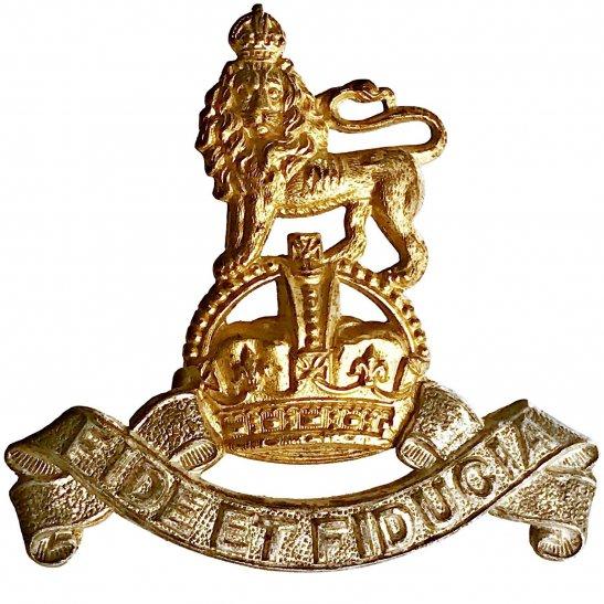 Royal Army Pay Corps RAPC WW2 Royal Army Pay Corps RAPC OFFICERS Gilt Cap Badge