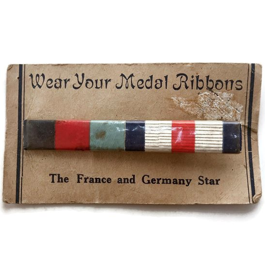 WW2 Medal Ribbon Bar - 1939-45 Star & France and Germany - SEW ON