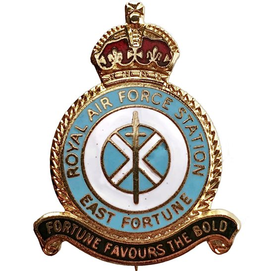 RAF Squadrons East Fortune Airport Station Royal Air Force RAF Lapel Badge