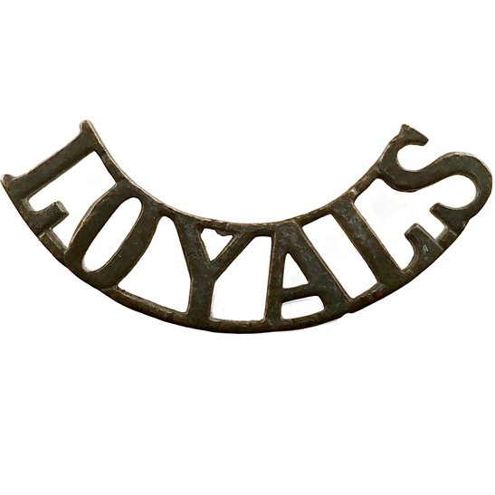 Loyal North Lancashire UK Dug Detecting Find - Loyal North Lancashire Regiment Relic Shoulder Title