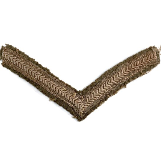 WW1 British Army Lance Corporals Cloth Chevron Insignia Rank Stripes