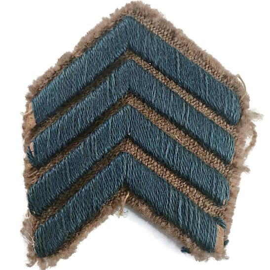 WW1 British Army 4x Blue Overseas Service Stripes Chevrons Badge