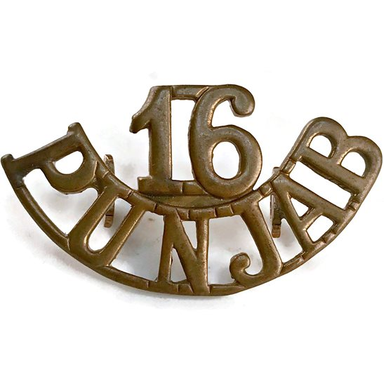 British Indian Army British Imperial Indian Army 16th Punjab Regiment India Shoulder Title