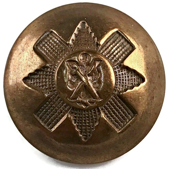 Black Watch Royal Highland (Black Watch) Scottish Regiment Tunic Button - 26mm