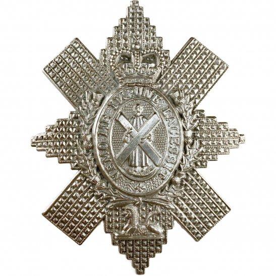 Black Watch Royal Highland (Black Watch) Regiment Cap Badge - Queens Crown
