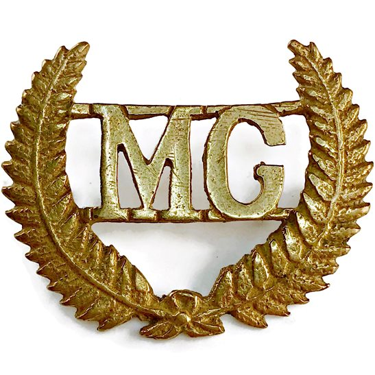 WW1 New Zealand Army WW1 New Zealand Army Machine Gunner Gun Arm / Sleeve Proficiency Trade Badge - FERN LEAVES