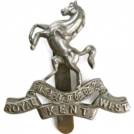 Royal West Kent WW2 Queens Own Royal West Kent Regiment RWK Cap Badge