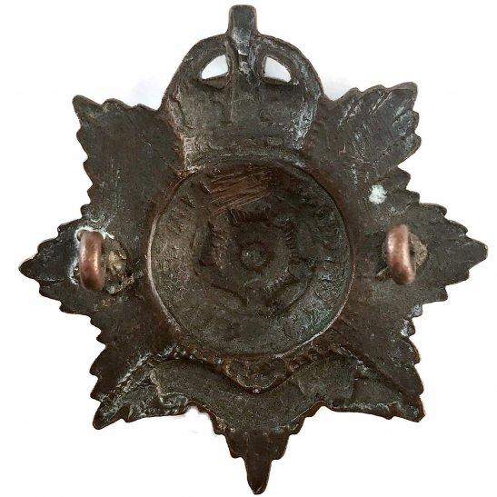 additional image for Hampshire Regiment OFFICERS Bronze Cap Badge