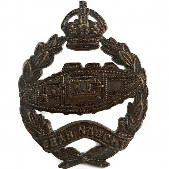 Royal Tank Regiment WW2 Royal Tank Regiment Corps BRONZE Officers Collar Badge