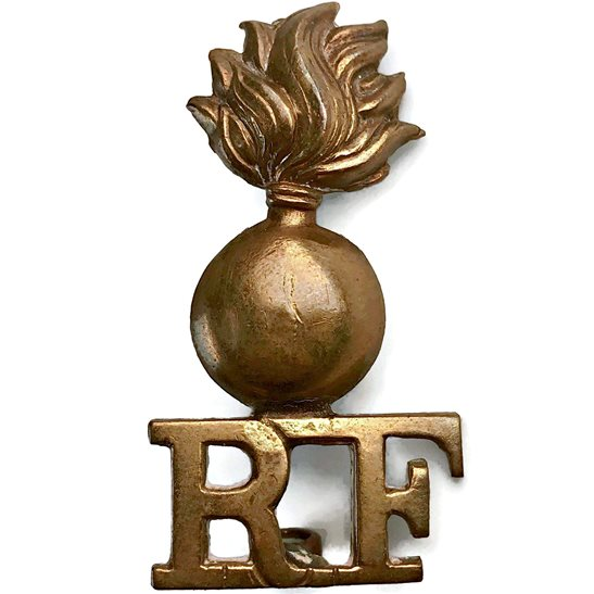 Royal London Fusiliers Royal London Fusiliers Regiment Shoulder Title - SINGLE CONSTRUCTION