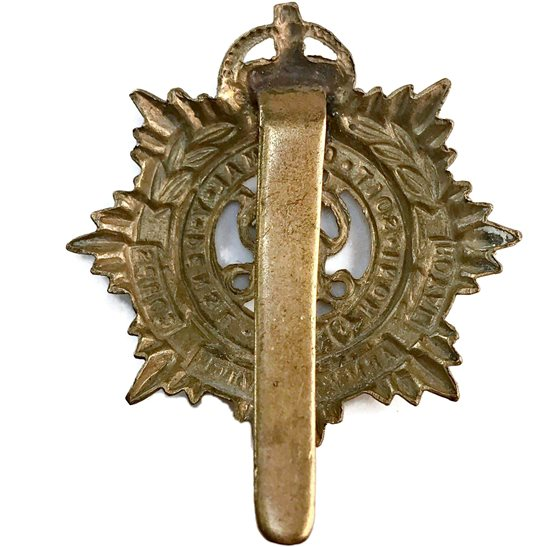 additional image for WW2 Royal Army Service Corps (George VI) RASC Cap Badge