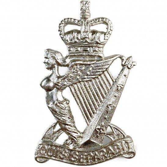 Royal Ulster Rifles Royal Ulster Rifles Regiment Irish METAL Cap Badge - Queens Crown